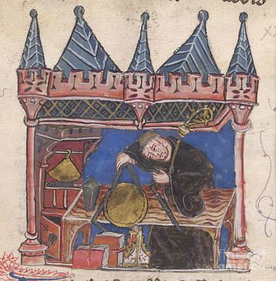 Richard Of Wallingford Print by British Library