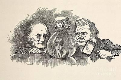British Biologist Photograph - Richard Owen & T.h. Huxley by Paul D. Stewart