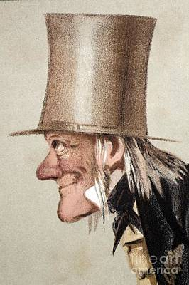 Darwin Fossils Photograph - Richard Owen Caricatured In Vanity Fair by Paul D. Stewart