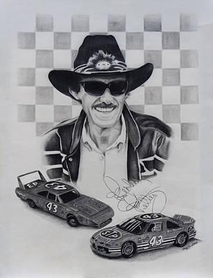 Richard Petty Print by Billy Burdette
