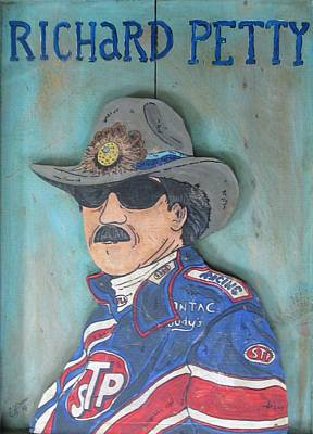 Stp Painting - Richard Petty by Eric Cunningham