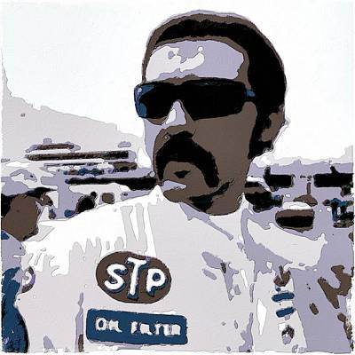 Painting - Richard Petty Poster Art by Florian Rodarte