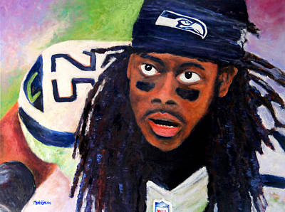 Painting - Richard Sherman by Marti Green