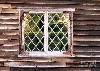 Photograph - Richard Sparrow House Windows by Janice Drew