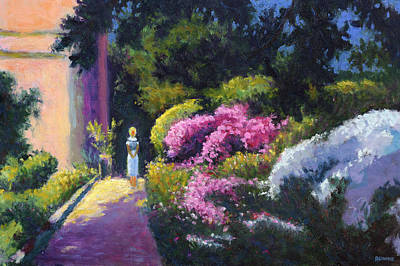 Richards Dar House Garden Light Art Print by Vernon Reinike