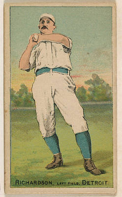 Baseball Cards Drawing - Richardson, Left Field, Detroit by Issued by D. Buchner & Co., New York