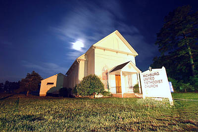 Photograph - Richburg United Methodist Church by Joseph C Hinson Photography