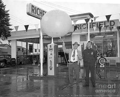 Photograph - Richfield Station Opening  by Merle Junk