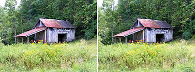 Photograph - Richland Creek Farm Barn In Stereo by Duane McCullough