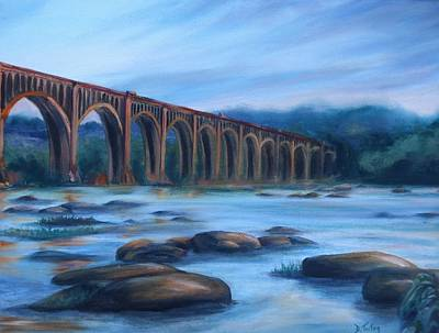 Richmond Train Trestle Art Print