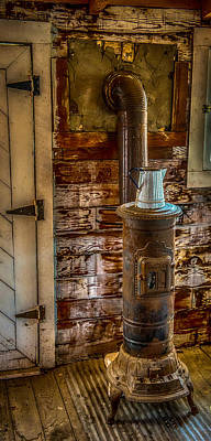 Richmond Wood Stove Art Print