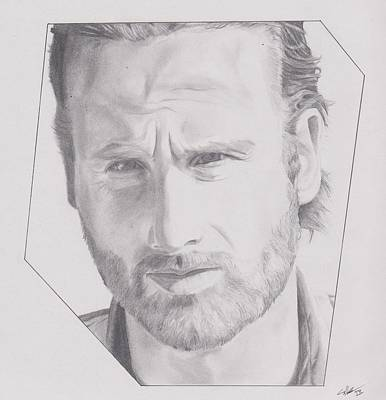 Grime Drawing - Rick 2 by Crosson Nipper