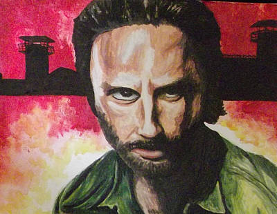 Rick Grimes - The Walking Dead Art Print by Scott Dokey