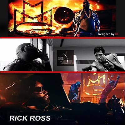 Wynwood Mixed Media - Rick Ross by HI Designs Amor Blu Group LLC