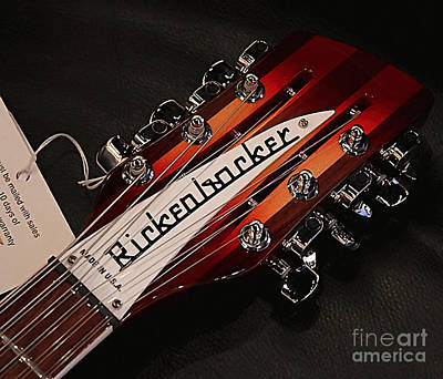 Color Mixed Media - Rickenbacker by Marvin Blaine