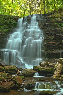 Photograph - Ricketts Glen Cascading Falls by Adam Jewell