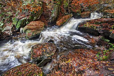 Leafs Photograph - Ricketts Glen In Autumn Beauty by Marcia Colelli