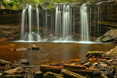 Photograph - Ricketts Glen Oneida Falls by Adam Jewell
