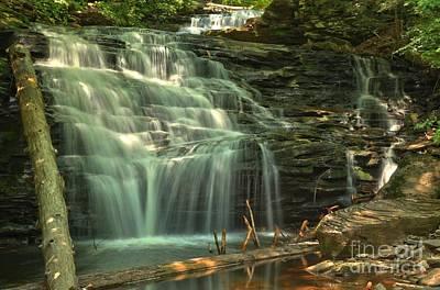 Photograph - Ricketts Glen Shawnee Waterfall by Adam Jewell
