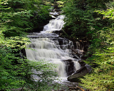 Photograph - Ricketts Glen's Cascading Mohican Falls On Kitchen Creek by Gene Walls