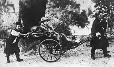 Young Man Photograph - Rickshaw Transportation by Underwood Archives