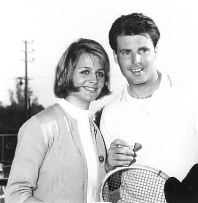Ricky Photograph - Ricky Nelson, Right, And His Wife by Everett