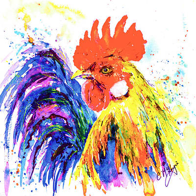 Wall Art - Painting - Ricky Rooster by Carrie McKenzie