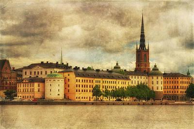 Photograph - Riddarholmen Island From Stadshusparken - Central Stockholm - Sweden by Photography  By Sai