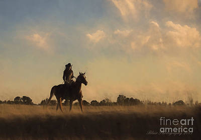 Photograph - Ride At Dusk by Linda Blair