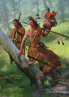 Indian Lore Painting - Ride Away by Rob Corsetti