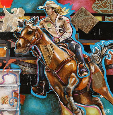 Mixed Media - Ride Baby Ride by Katia Von Kral