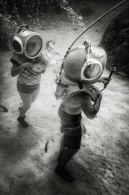 Diving Helmet Photograph - Ride Clear Water by Mathilde Guillemot