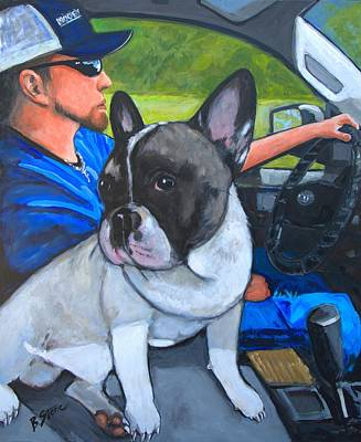 Ride Dog Original by Brian Stone