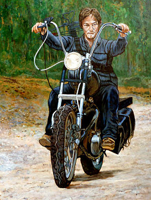 Painting - Ride Don't Walk by Tom Roderick