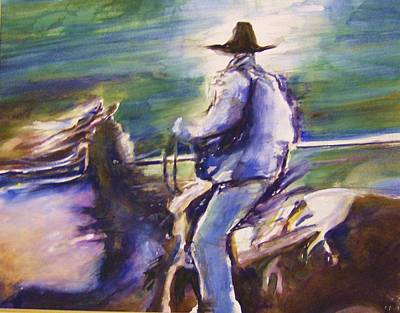 Roper Painting - Ride Like The Wind by Therese Fowler-Bailey