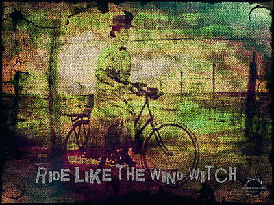 Digital Art - Ride Like The Wind Witch by Absinthe Art By Michelle LeAnn Scott