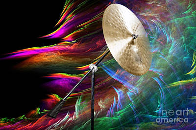 Photograph - Ride Or Suspended Cymbal In Color 3241.02 by M K Miller
