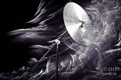 Drummer Photograph - Ride Or Suspended Cymbal In Sepia 3241.01 by M K  Miller