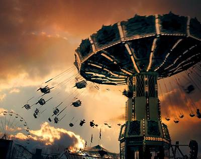 Ride The Clouds Art Print by Gothicrow Images