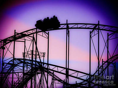 Photograph - Ride The Wild Cat - Roller Coaster by Colleen Kammerer