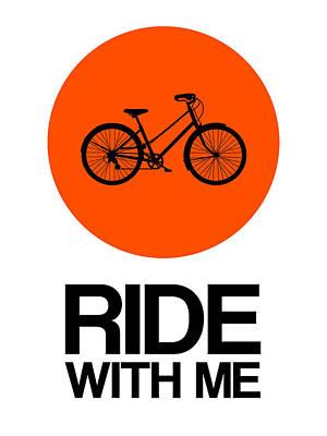 Box Digital Art - Ride With Me Circle Poster 1 by Naxart Studio