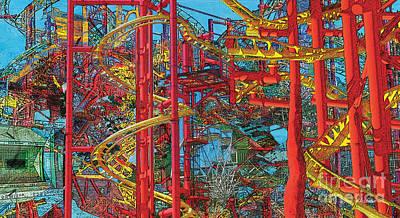 Roller Coaster Mixed Media - Ride X by David Klaboe