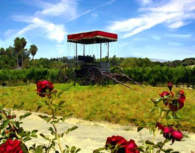 Vineyard Digital Art - Rideau Vineyards Solvang California by Kurt Van Wagner