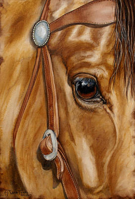 Wall Art - Painting - Rider Reflection by Lanie Frick