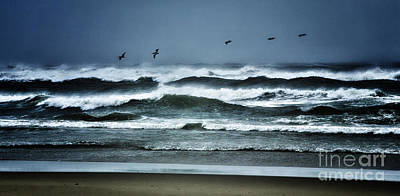 Tropical Storm Photograph - Riders On The Storm 1 - Outer Banks by Dan Carmichael