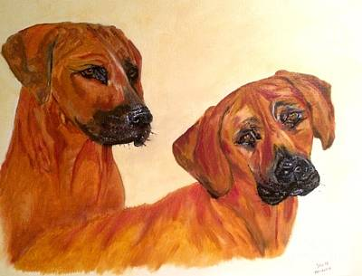 Painting - Ridgebacks by Denise Tomasura