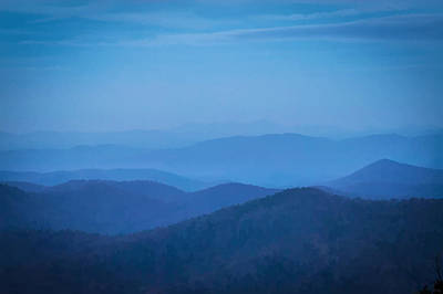 Photograph - Ridgelines Great Smoky Mountains National Park Painted by Rich Franco
