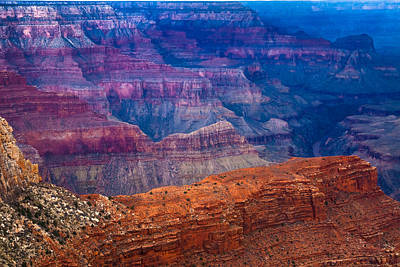 Photograph - Ridges And The River At The Grand Canyon by Ed Gleichman
