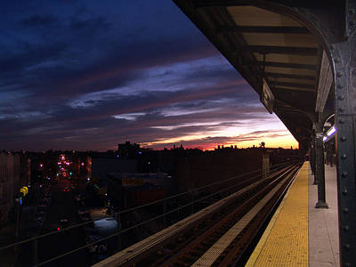 Photograph - Ridgewood M Train Station by Mieczyslaw Rudek