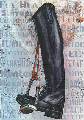 Painting - Riding Boot  by Sher Sester